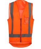 Veste elevada da segurança da visibilidade do projeto novo com bolso da caixa