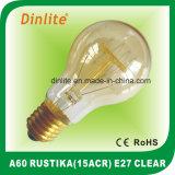 A60-15 (ACR) - E27-Clear y bulbo de oro de Rustika