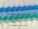 Telhas de telhadura onduladas Price/PVC da forma de onda de UPVC uma folha do plástico da camada