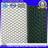 Maille hexagonale enduite galvanisée de poulet de treillis métallique de PVC