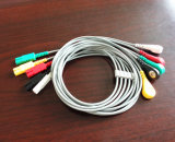 Patienten-Überwachungsgerät Ll Holter Snap&Klipp 5 Kabel des Leitungsdraht-ECG