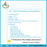 12V 1.2ah VRLA AGM-nachladbare Batterie für Warnungssystem