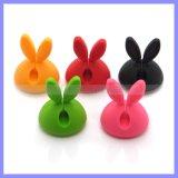 Bobinier respectueux de l'environnement matériel approuvé de câble d'oreille de lapin d'agrafe de fil de GV TPR