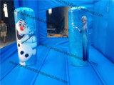 Castello di salto gonfiabile congelato di tema di vendita diretta della fabbrica del Rainbow