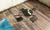 [أوف-رسستنت] [سثتيك] [شبر] خارجيّة جانب مسبح حديقة أثاث لازم قهوة مجموعة مع قابل للتراكم كرسي تثبيت & طاولة ([يت833])