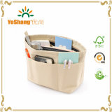 Fashion personalizzato Canvas Cosmetic Bag Makeup Bag con Side Pockets