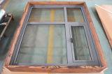 Ventana de aluminio del marco del perfil de la rotura termal de la alta calidad Kz318 con el marco multi del bloqueo y de madera