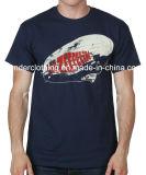 T-shirt rond d'été de cou de coton de mode d'impression faite sur commande d'écran