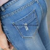 Jeans-Frauen-Hose der Qualitäts-dünnes Denim zerrissene Dame-9.