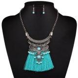 Серьги ожерелья заявления чокеровщика Tassel Jewellry способа кристаллический установили ювелирные изделия