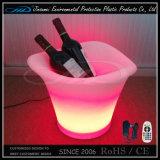 맥주 병 Holdering를 위한 LED에 의하여 조명되는 얼음 양동이