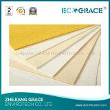 Мешок пылевого фильтра сопротивления мешка пылевого фильтра высокотемпературный для поддержанного волокна Baghouse Nomex