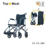 Topmedi Aluminum Portable Light Foldable Wheelchair pour Disabled et Elderly