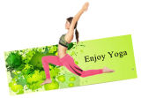 De Mat van de Yoga van het natuurlijke Rubber met Microfiber Deklaag, Digitale Druk