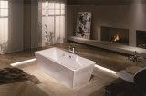 Bañera derecha libre simple de acrílico blanca del cuarto de baño de la fibra