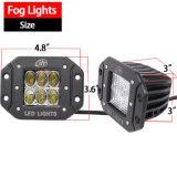 Luzes do diodo emissor de luz da montagem do resplendor do amortecedor (30W, 3X3X3inch, conduzindo o feixe, IP68 Waterproof)