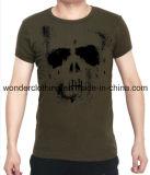 Les hommes bon marché en gros adaptés de qualité ont imprimé le T-shirt