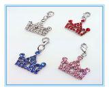 밝은 수정같은 모조 다이아몬드 심혼 펀던트 개 목걸이 4 색깔 애완 동물 보석 S/M/L