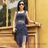 セクシークールフリンジハンドかぎ針編みのビーチウエアカバーアップビーチドレス