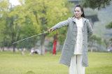 Sobretodo caliente de lino de alto grado de la sección gruesa del otoño y del invierno de las mujeres