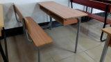 Double bureau en bois combiné d'école et présidence (SF-09D)