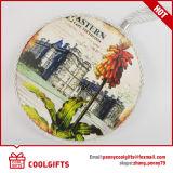 Práctico de costa de cerámica del corcho del regalo de la manera con la sublimación para la cocina
