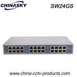24 interruttori delle porte 100m RJ45 Enthrnet per il CCTV Camer (SW24GS)