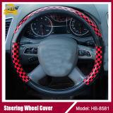 Acessório de couro puro do carro da tampa de roda da direção do carro do plutônio