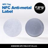 Etiqueta ISO14443A ultraligero del Anti-Metal del animal doméstico del Hf de Nfc 13.56MHz