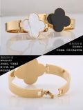 De cuatro hojas del trébol de joyería de la pulsera del acero inoxidable de la pulsera de moda (hdx1001)
