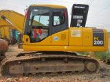 Máquina escavadora usada de Japão maquinaria original KOMATSU PC200-7