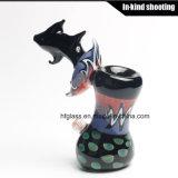 Bebedoiros automáticos de vidro coloridos do martelo das tubulações de fumo
