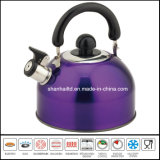 bouilloire siffleuse de couleur de 2.5L 2.0L