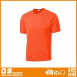 Poliéster Curto Luva T-shirt da senhora