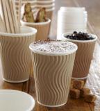 Ondulation/tasse de papier imprimée par coutume ondulée de café