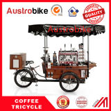 ファースト・フードの三輪車のコーヒー販売のカートのコーヒーバイク4の車輪のコーヒーバイク