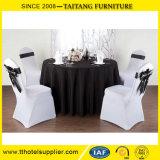 ポリエステル結婚式または宴会の卸し売り黒いテーブルクロス