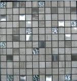 水晶、ステンレス鋼、大理石の混合されたモザイク(FYSMG115)