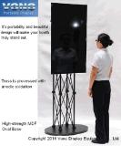 Ausstellung-Bildschirmanzeige-Messeen-Binder beweglicher Fernsehapparat-Standplatz