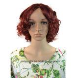 Le donne calde di vendita mettono le parrucche in cortocircuito sintetiche dei capelli del Brown di acqua della parrucca naturale dell'onda