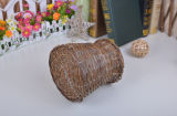 Maceta de mimbre hecha a mano del nuevo diseño para la flor/las hojas de operación (planning) del plan