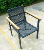 옥외 의자 PE 등나무 가구 의자 티크 팔걸이 의자 바닷가 쌓을수 있는 의자 (YTA213)