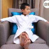 Peignoir blanc de gaufre des enfants 100%Cotton (DPH7427)