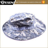 Chapeau militaire de pêche campant augmentant le chapeau large de Sun de camouflage de bord
