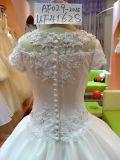 Rand-Spitze-Hochzeits-Mädchen-Kleid befestigte Applique-Kleid UF4162s
