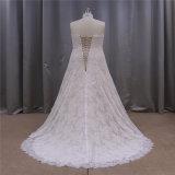 Vestido de casamento nupcial do querido atrativo do Neckline de Lllusion do projeto