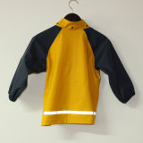 Festes Gelb PU-reflektierende Regen-Umhüllung für Kinder/Baby
