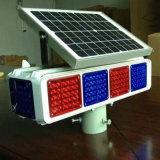Indicatore luminoso d'avvertimento infiammante solare di traffico LED dei quattro lati