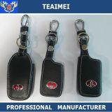Caso de la llave del coche del cuero genuino de distancia Soporte del caso dominante con llave para Toyota