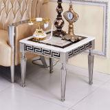 현대 스테인리스 다리 대리석 최고 물자 사각에 의하여 비치는 옆 테이블